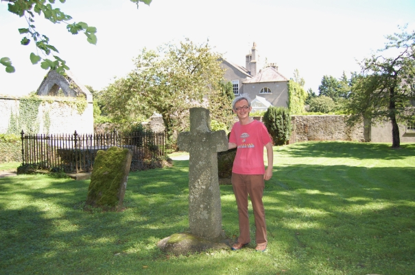 1000 year old cross in graveyard of St Finian's, Newcastle Lyons