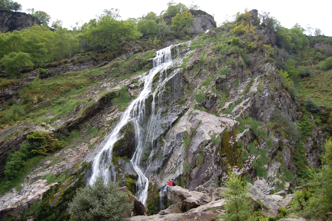Powerscourt Waterfall with Larry, May 2008
