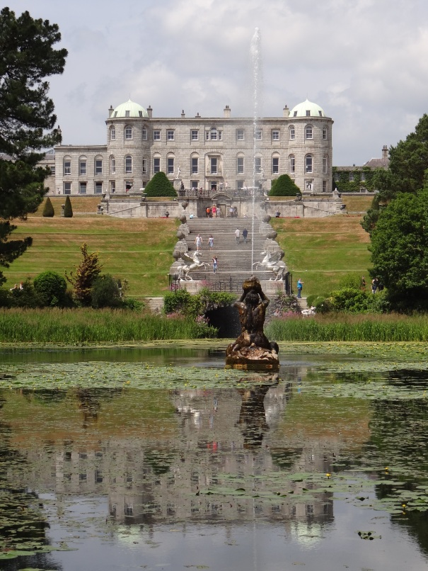 garden front of Powerscourt flickr commons by Francesco Severi July 14 2013