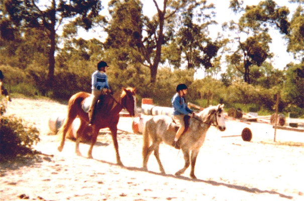 Caballo Stables, Jen and Siobhan riding