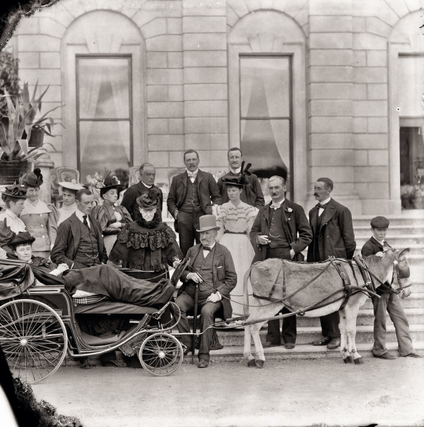 Lady Waterford in her specially designed invalid carriage 1896